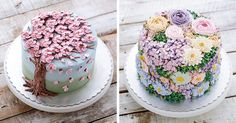 Spring is here, and it not only looks good but tastes amazing as well! To prove this, pastry chefs from all over the place have gone online to share their food art in the form of blooming flower buttercream cakes!