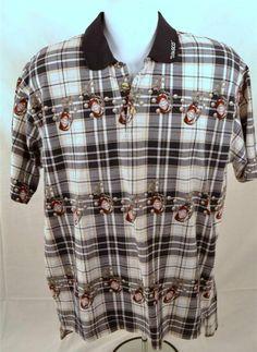 Tabasco Men's Size Large Short Sleeve 100% Cotton Golf Style Shirt