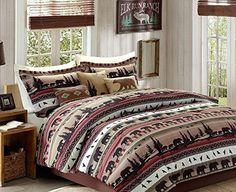 Bears, Mountains, Cabin, Lodge CAL King Comforter Set KO (8 Piece Bed In A Bag) + HOMEMADE WAX MELT, http://www.amazon.com/dp/B0164GCPKG/ref=cm_sw_r_pi_awdm_GVl3wb06E7EGY