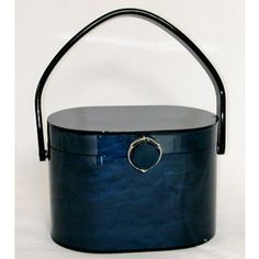 Navy Blue lucite purse 1950's