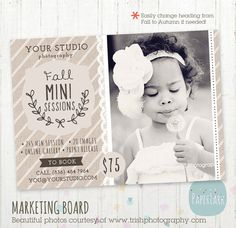 Photography Marketing Board Fall/Autumn Mini by PaperLarkDesigns