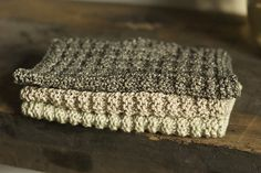 waffle knit dishcloth, habu natural cover cotton, made for washing hands