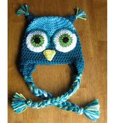 Lana by Sara Molano will handmade an animal owl hat or Monkey chrochet custom sz $20.00