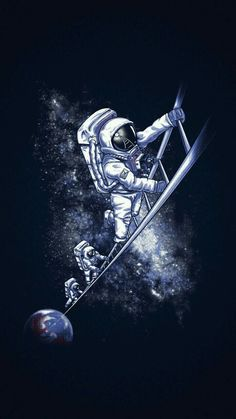 Ladder Space & Astronaut Pictures 720 X 1280 Cele. Space Drawings, Space Artwork, Wallpaper Space, Galaxy Wallpaper, Iphone Wallpaper, Wallpaper Gratis, Wallpaper Pictures, Astronaut Illustration, Space Illustration