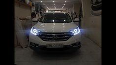 Honda CRV Nâng Cấp Chìa Khóa Thông Minh Smart Key + Độ Đèn Led Mí + Ange...