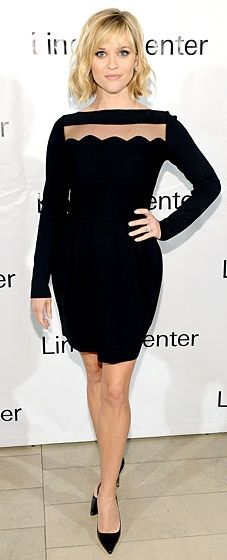 Reese Witherspoon wears a Valentino mini at the Great American Songbook Event in NYC