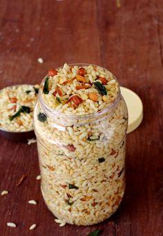 Murmura Chivda ~ Puffed Rice Chivda (Healthy Snack sold in Andhra) - Gluten Free, Vegan