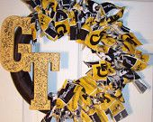 Georgia Tech Yellow Jackets Wreath
