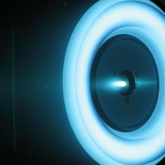 NASA has posted an image of its new solar-electric propulsion thruster, which uses xenon ions for propulsion.