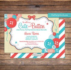 cute as a button baby shower invitation by on etsy