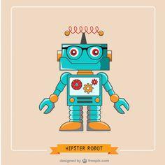 Moderno robô ilustração vetorial livre Vetor grátis