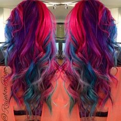 A month in hair colors Today vibrant hair colors The HairCut Web Vibrant Hair Colors, Hair Dye Colors, Bright Hair, Colorful Hair, Blue Colors, Dye My Hair, New Hair, Pretty Hair Color, Coloured Hair