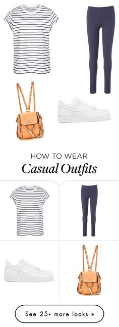 """""""Casual sportish outfit❤️"""" by tiffanytheboss on Polyvore featuring NIKE, Beyond Yoga and Chloé"""
