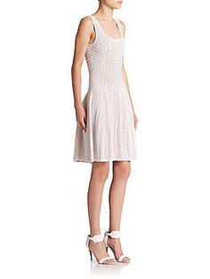 Rvn maxi cutout knit dress