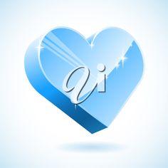 iCLIPART - 3D ice heart vector illustration.