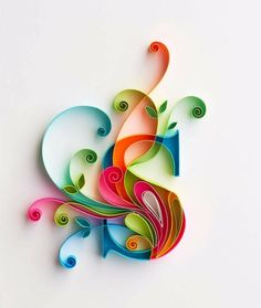 Handmade paper Monogram initial artwork//Quilled by JasmeetKohli - Salvabrani Arte Quilling, Quilling Letters, Paper Quilling Patterns, Quilled Paper Art, Quilling Paper Craft, Diy Paper, Paper Crafts, Quilling Tutorial, Alphabet Wallpaper
