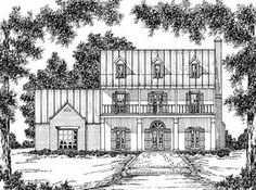 VERY nice plans. Plantation Style House Plans - 3368 Square Foot Home , 2 Story, 4 Bedroom and 3 Bath, 2 Garage Stalls by Monster House Plans - Plan 18-484