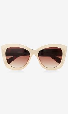 nude retro sunglasses from EXPRESS