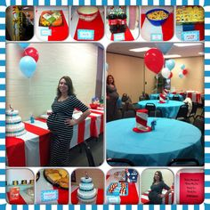 Dr suess baby shower decorations and food