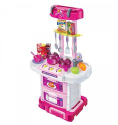 Pull-Along Kitchen Trolley Set Kitchen Trolley, Toys Online, Kitchen Sets, Child Safety, Popcorn Maker, Kitchen Appliances, Ebay, Fun, Games
