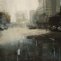 Third St. Bridge in Blue and Beige            Artist: Jeremy Mann   More