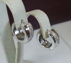 Vintage Ohrhänger - Creolen Ohrringe 925 Silber Glitzer Vintage SO253 - ein Designerstück von Atelier-Regina bei DaWanda
