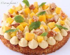 C'est ma fournée !: Fantastik mangue passion Mango Recipes, Pie Recipes, Sweet Recipes, Chefs, Delicious Desserts, Yummy Food, Sweet Tarts, Cookie Desserts, Sin Gluten