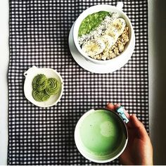 Love this! @imnorris using Amoda matcha for a triple threat matcha breakfast. #matchalover