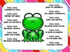 *Letras de Canciones infantiles. - EduInf35 Preschool Songs, Kids Songs, Spanish Songs, Finger Plays, Music And Movement, Spanish Language Learning, Spanish Classroom, Have A Laugh, Nursery Rhymes