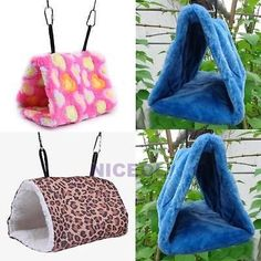 Bird Hammock Hanging Cave Cage Plush Snuggle Happy Hut Tent Bed Bunk Parrot Toy #parrotcagecover #parrotcageideas