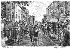 Stephen Wiltshire -Portobello Market (London) - 2015