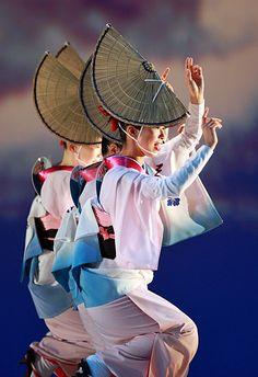 Awa odori dancers, Japan. Awa odori (Awa Dance) is one of the summer seasonal events in Japan. As asame as last year, I witness this energish dane.