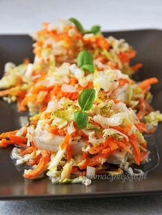Polish Recipes, Fish And Seafood, Smoothies, Good Food, Food And Drink, Cooking Recipes, Vegetarian, Tasty, Salad