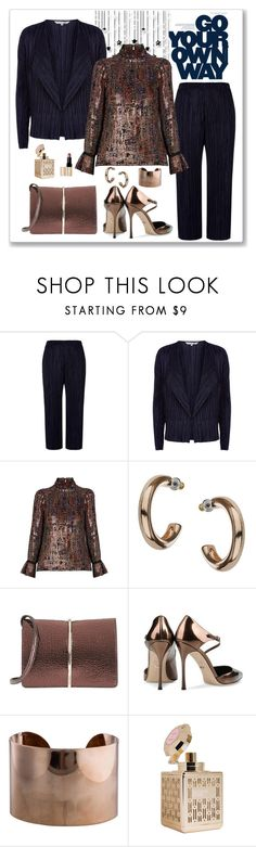 """""""Vanessa Bruno Florence Blouse Look"""" by romaboots-1 ❤ liked on Polyvore featuring Damsel in a Dress, Vanessa Bruno, Dorothy Perkins, Nina Ricci, Sergio Rossi, Maison Margiela and Bobbi Brown Cosmetics"""