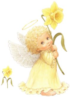 Angel in Yellow Cute Images, Cute Pictures, Ariana Grande Drawings, I Believe In Angels, Angel Pictures, Cute Clipart, Angel Cards, Cartoon Pics, Christmas Angels