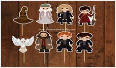 Harry and Friends Cupcake Toppers 12 by BlossomEvents on Etsy