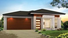 Avanti Designed for small lots and a growing family. 3 bedrooms, Multi Purpose Room and free flowing access to the alfresco entertaining area. Bungalow Floor Plans, Modern Bungalow House, Small House Floor Plans, Craftsman Style House Plans, Modern House Plans, Single Storey House Plans, One Storey House, Single Floor House Design, Small House Design