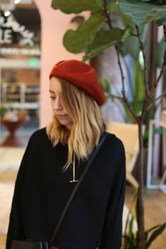 Whether you're channeling your inner artist, your favorite French style maven, or going for a bit of Bonnie and Clyde a classic beret is never out of styl e. Rust color is adjustable. Bonnie N Clyde, Rust Color, Beret, Autumn Winter Fashion, Headpiece, Winter Hats, Polish, Fall, Classic
