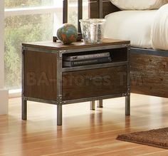 industrial night stand - Google Search