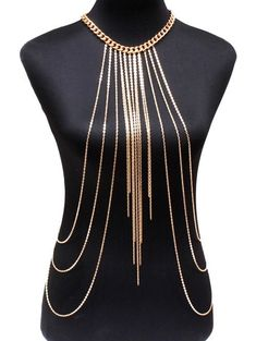 Vintage Alloy Body Chain