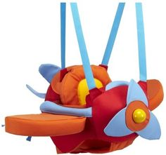"""Aircraft Swing This cute indoor aircraft swing takes your baby on a fun plane ride through the sky of the room while its rattling propeller adds an extra """"vrrroom!"""" haba-airplane-swing Awesome toys for babies and toddlers Dream Baby, Baby Love, Best Baby Bouncer, Baby Door Bouncer, Cute Babies, Baby Kids, Baby Boy Themes, Baby Gear, Kids Toys"""