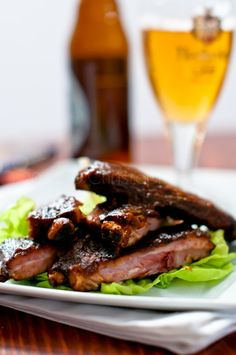 Louis spare ribs cooked sous vide for 72 hours. Barbecue Recipes, Gourmet Recipes, Cooking Recipes, Healthy Recipes, Healthy Foods, My Favorite Food, Favorite Recipes, Steak And Shrimp, Sous Vide Cooking