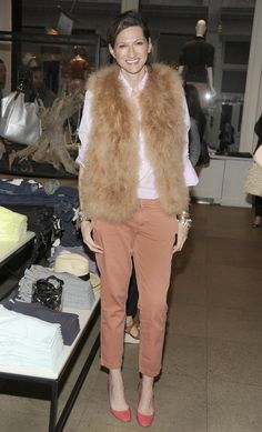 Fluffy. I have a vest just like that. I really could be Jenna Lyons' daughter, we kind of share the same fashion DNA.