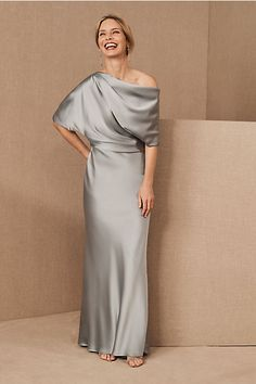 Amsale Pryce Dress by BHLDN in Mint Size: Women's Dresses at Anthropologie Mother Of The Bride Dresses Long, Mother Of Bride Outfits, Mothers Dresses, Mother Of The Bride Fashion, Grooms Mother Dresses, Mob Dresses, Wedding Dresses, Dresses Online, Bridesmaid Dresses