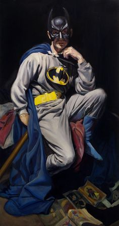 Batman after Velazquez Oil on canvas x Jake Johnson Jake Johnson, Batman, Hero Arts, Painting & Drawing, Oil On Canvas, Joker, Darth Vader, Superhero, Drawings