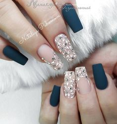 [ Best Matte Nails Designs to Make You Charming ] matte Cute Acrylic Nails, Matte Nails, Gorgeous Nails, Pretty Nails, Nail Manicure, Manicures, Gel Nails At Home, Wedding Nails Design, Nail Swag
