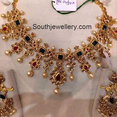 Uncut Pacchi Necklace with Emeralds and Rubies