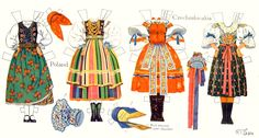 Peasant Costumes of Europe: Poland and Czechoslovakia, illus by Rachel Taft Dixon