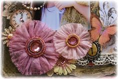 Such a Pretty Mess: Recycled Dryer Sheet Blooms ~ Tutorial!!
