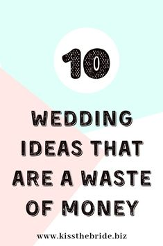 When your wedding planning on a budget then you need to make some choices about what wedding ideas to spend your money on. We have rounded up 10 pointless wedding ideas that guests won't even notice or miss and really are a complete waste of money. #weddingplanningtips #weddingbudget Diy Wedding Planner, Wedding Planning On A Budget, Budget Wedding, Wedding Checklists, Wedding Costs, Wedding Advice, Plan Your Wedding, Wedding Ideas, Wedding Stuff